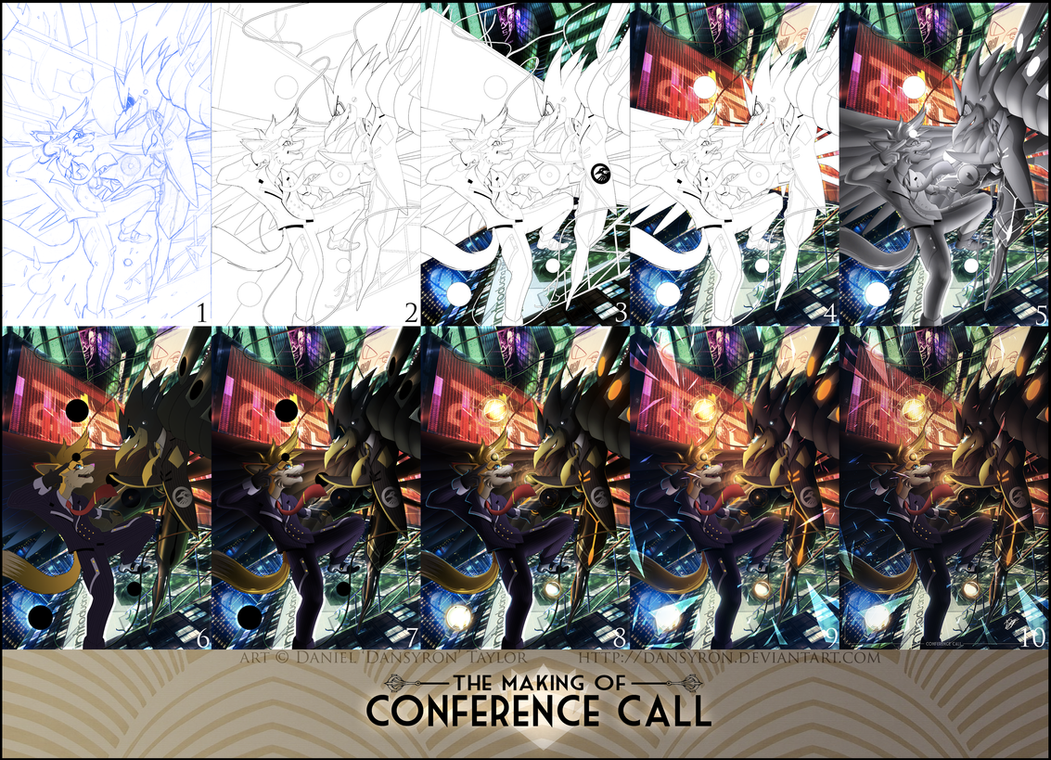 The Making of : Conference Call (step by step) by DanSyron
