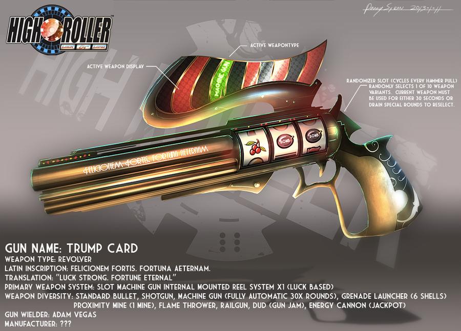 High Roller: Trump Card Concept Art (Gun Profile) by DanSyron