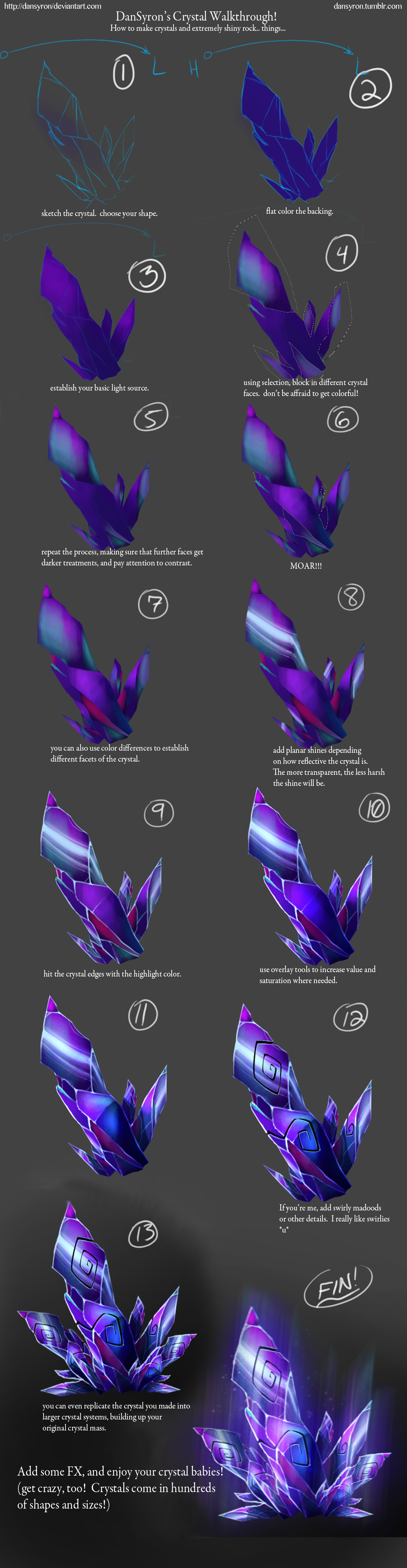 Painted Crystal Tutorial