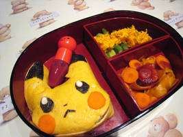 Pikachu bentou by Annachuu