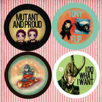 Comic Fiesta 11 Marvel badges