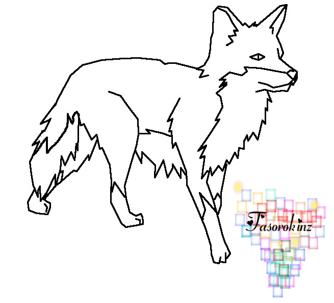 template of a fox fox template by queenyami on deviantart