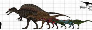Spinosauridae by Vitor-Silva