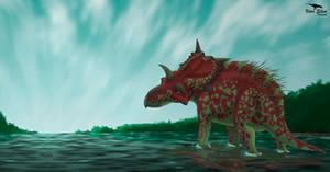 Xenoceratops by Vitor-Silva