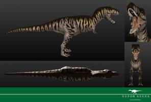 3D Tyrannosaurus by Vitor-Silva