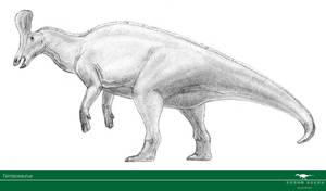 Tsintaosaurus by Vitor-Silva