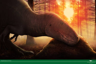 Tyrant Care - Daspletosaurus by Vitor-Silva