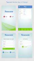 Tescom Mobile App UI Design