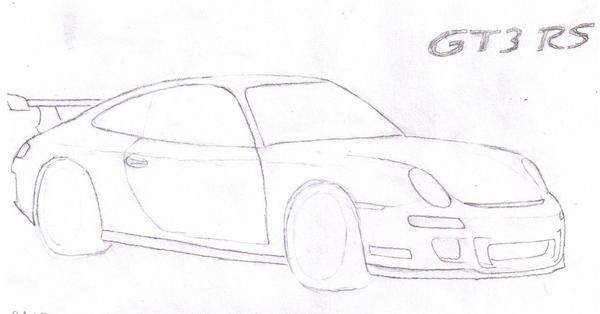 911 GT3 sketch by Sasha-NBT