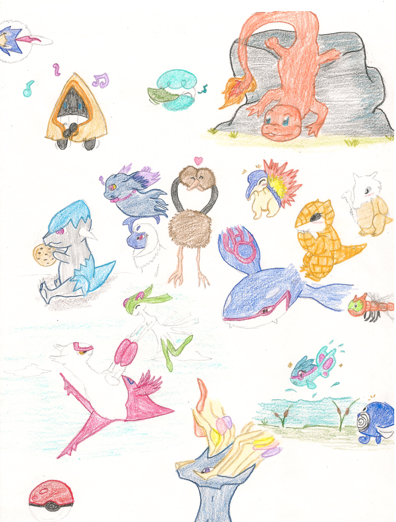 Pokemon Sketch dump by LuckyDragonfly