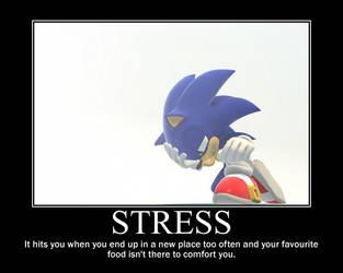 Sonic Demotivational: Stress by JemiDove