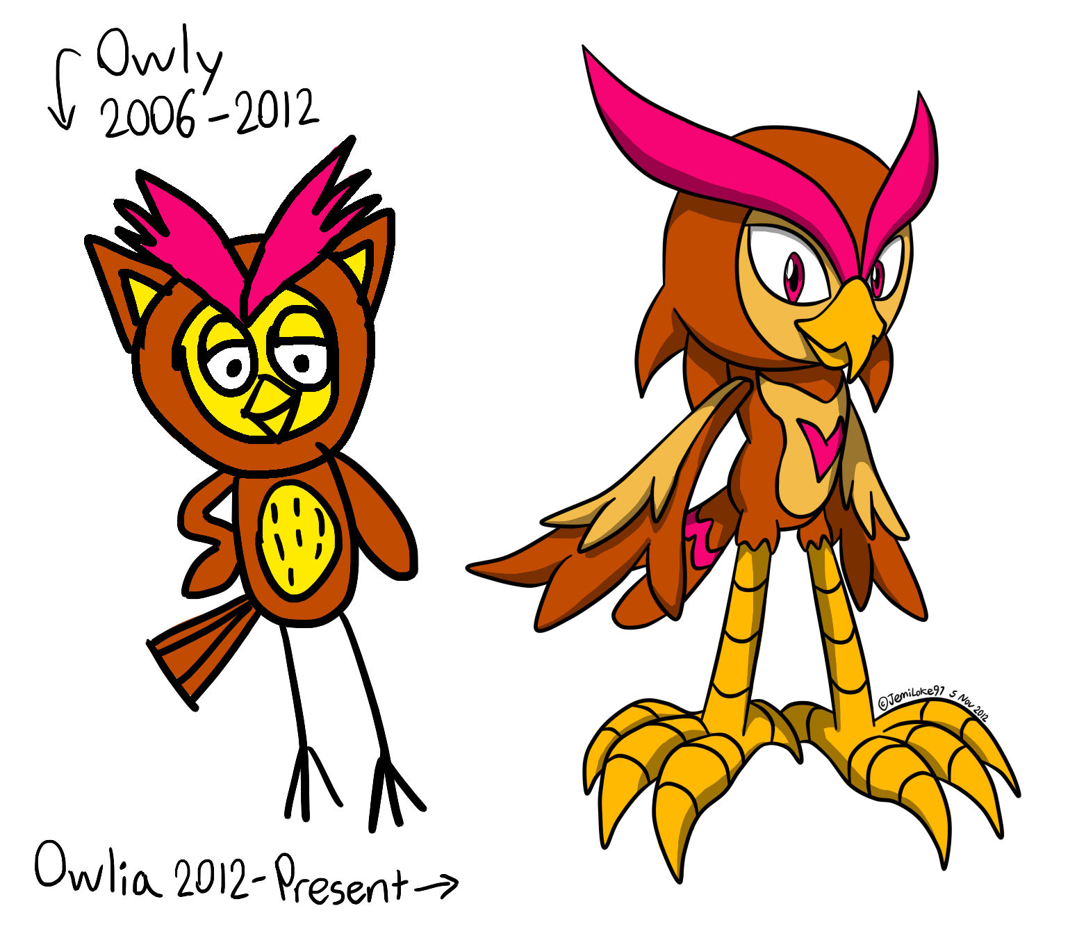 [BS] Owlia the Owl (bio) - Past and present by JemiDove