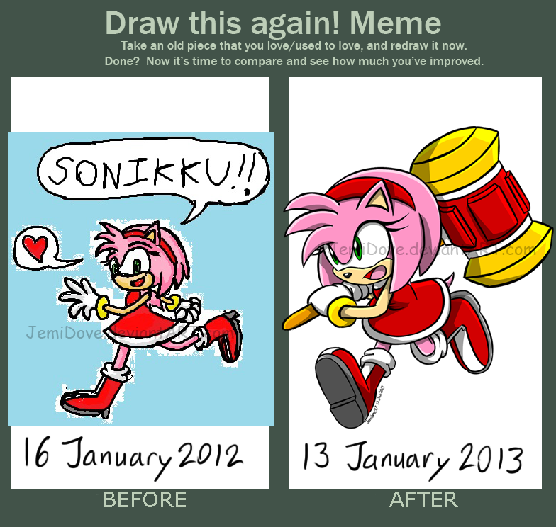 how to draw sonic and amy