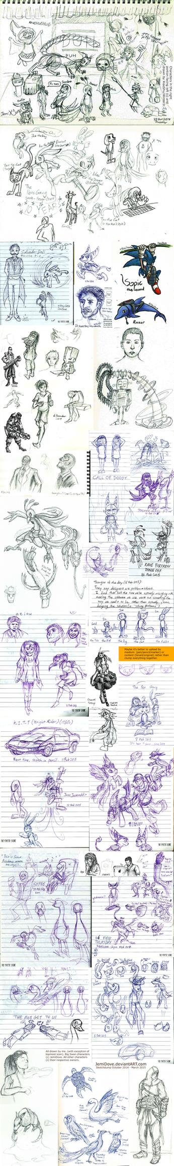 Artdump October2014 - March2015 (need focus) by JemiDove