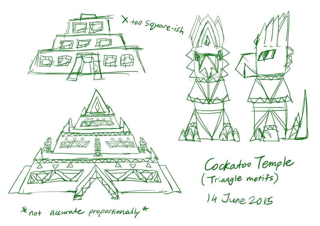 Cockatoo Ruins concepts 140615 by JemiDove