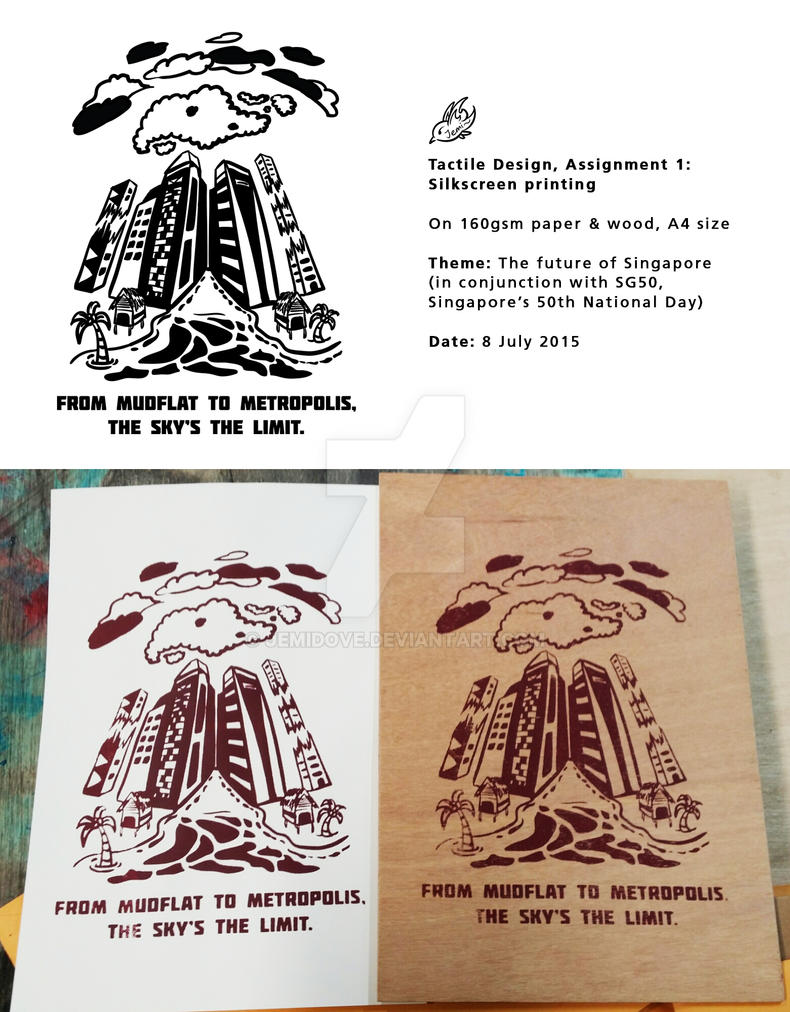 From mudflat to metropolis - Silkscreen printing by JemiDove