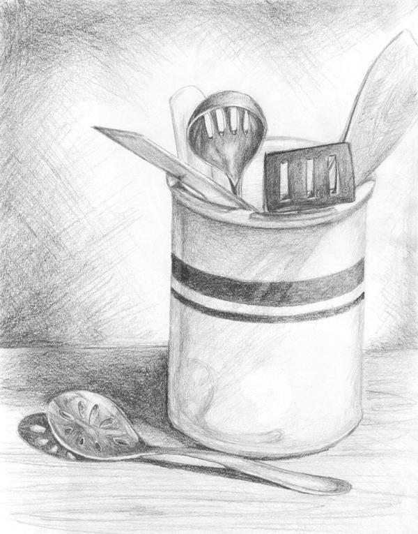 Sketch Of Kitchen Utensils : Assign 2: Kitchen Utensils by kitsune-nilde on DeviantArt