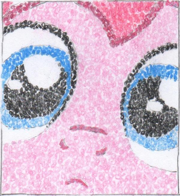 Pinky Pointillism Pie by SantaBarbaraBrony
