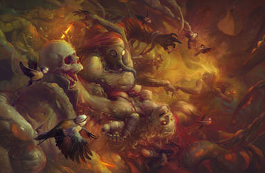 Zombies, birds, and a bunch of other stuff by apterus