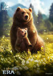 Bear mother and her cub