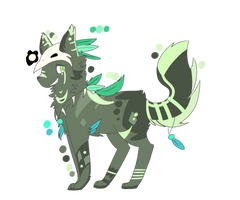 Refrence sheet: Greenfeather by Catniim