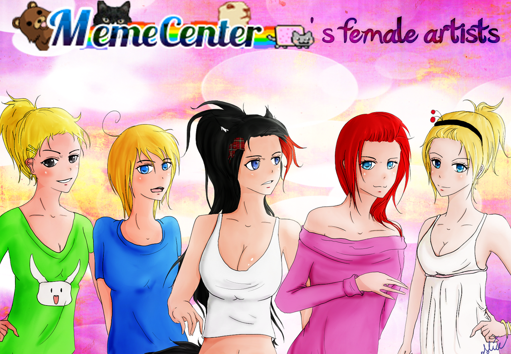 Memecenter Girls - Wallpaper version by CuteCherrish