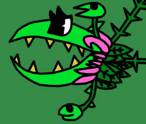 Planterra from Terraria in Cupheads Art Style by KatieTheSnowGoat