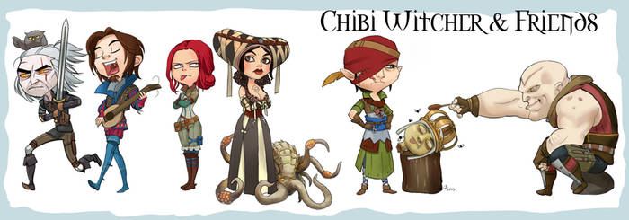 Chibi Witcher and Friends
