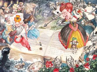 Alice in Wonderland by engelszorn