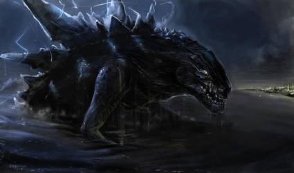 Godzilla by engelszorn