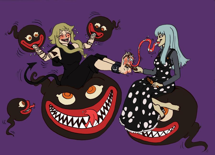Girlfriend collab: Medusa Mahem by bebob4999