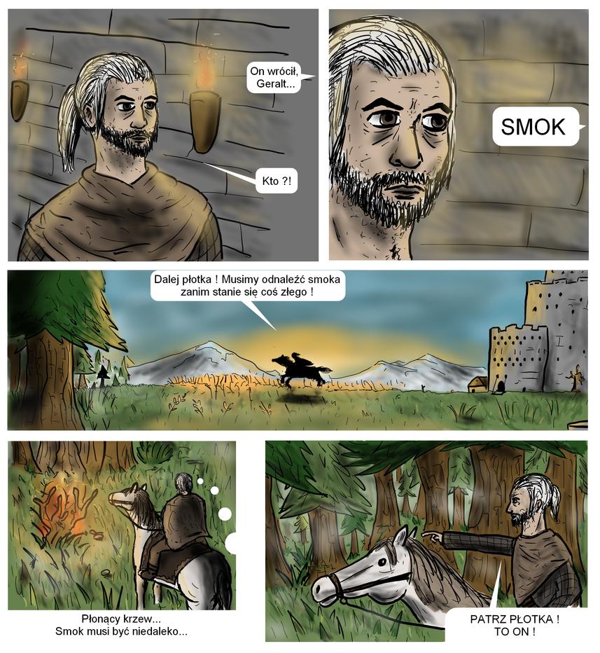 Wiedzmin Komiks O Smoku Strona 1 by Sporeczek