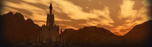 High Clerist Tower - At Dawn by kaelay