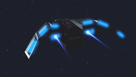 Back view of Orca Shuttle by kaelay