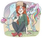 Wendy with a unicorn! by TommySamash