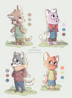 [Open] 3?4 chibi furries auction by TommySamash