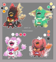 [OPEN] 3/4 cute monsters auction by TommySamash