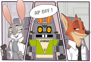 Commission|Airlines Zootopia by TommySamash