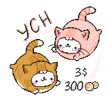 [OPEN] Pixel kitty ych {3$/300 POINTS} by TommySamash