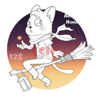 [Open] On a broomstick YCH. by TommySamash