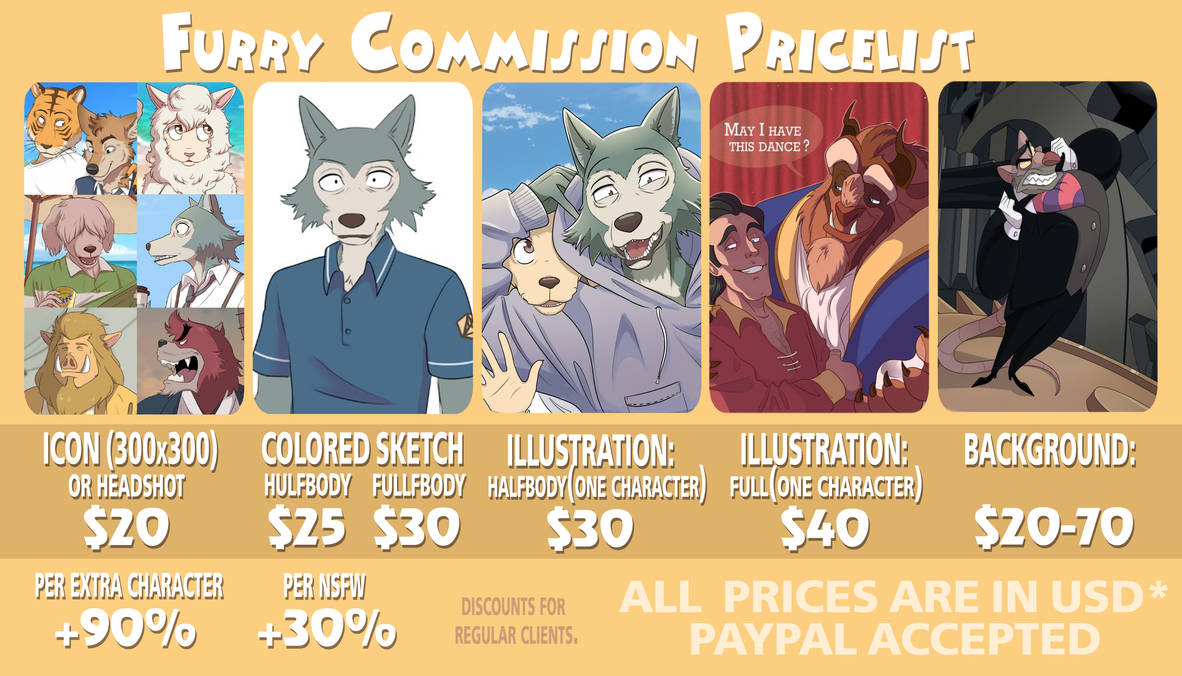 Furry price list!