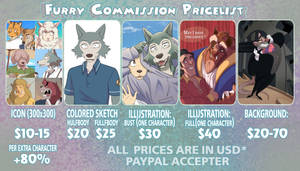 Furry price list! by TommySamash