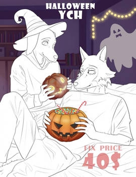 Furry Halloween YCH Commission [OPEN]
