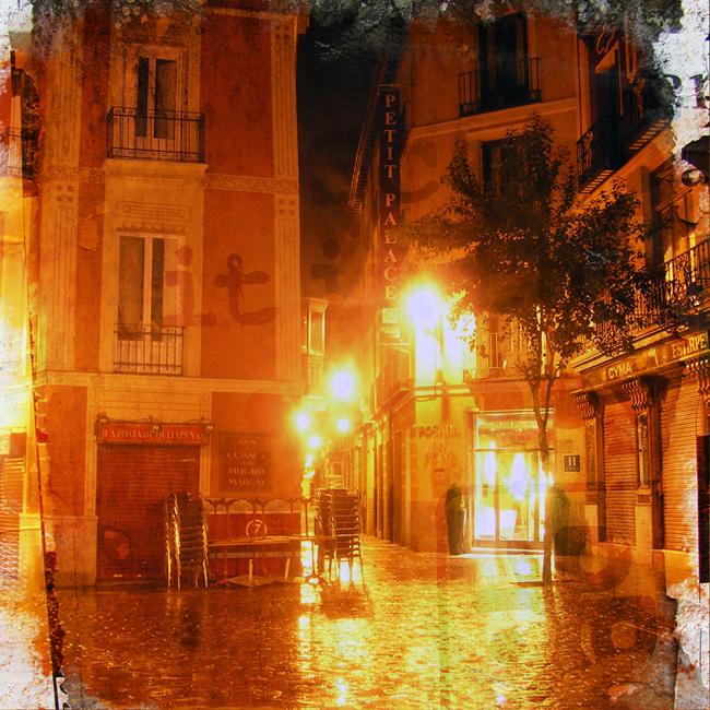 Night Lights After Rain by NonIntentonal