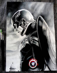 Captain America by Marrannon