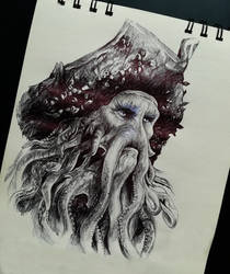 Davy Jones sketch by Marrannon