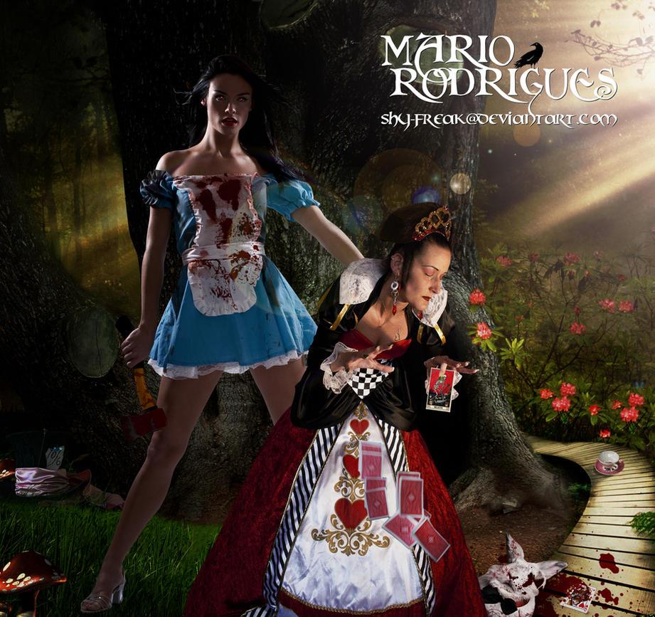Alice In Wonderland... with a twist by shy-freak