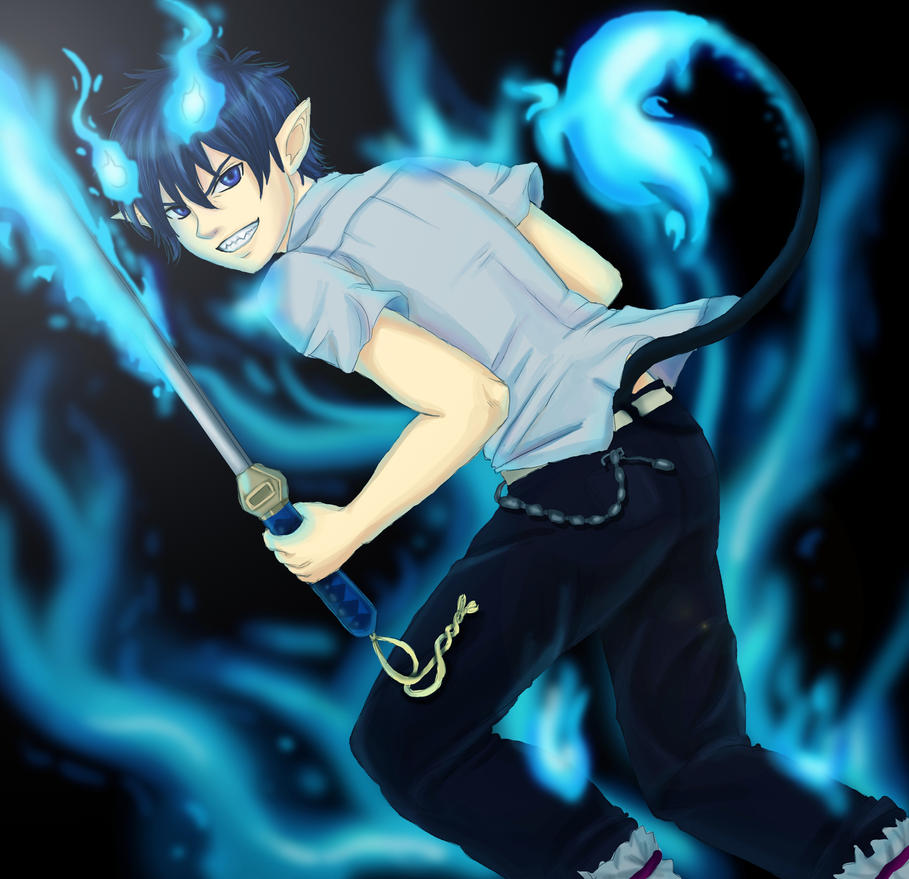 epic blue exorcist wallpaper - photo #15