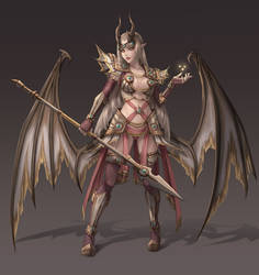 Golden Succubus - Concept by Tropic02