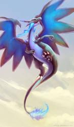 Mega Charizard X by eldrige